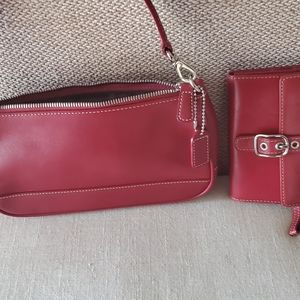 vintage coach small purse and wallet